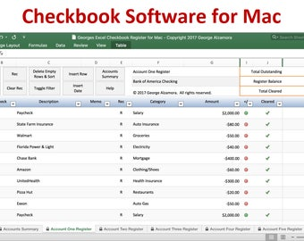 checkbook register for mac excel checkbook spreadsheet software for mac computers mac checkbook register spreadsheet digital download