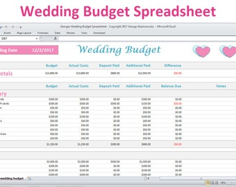 Wedding Budget Etsy