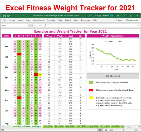 Exercise Tracker Template from i.etsystatic.com