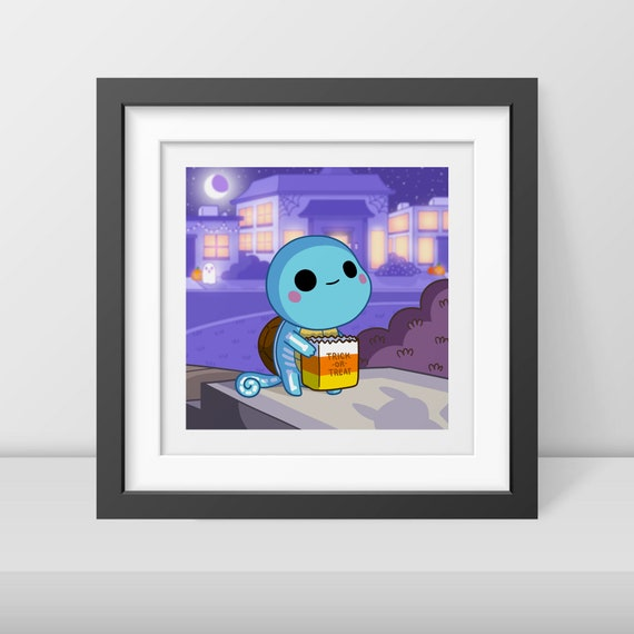 Squirtle-or-Treat Art Print
