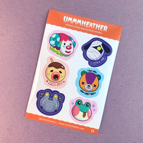 Animal Crossy New Horizies Stickers :)