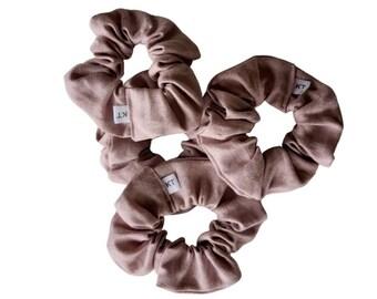 Hair Scrunchie - Hair Accessories - Linen Scrunchie - Dusty Pink