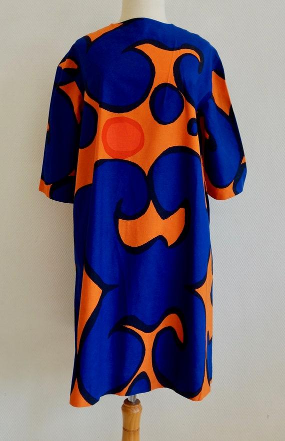 Vintage size 8 S 1966 Marimekko short dress Design