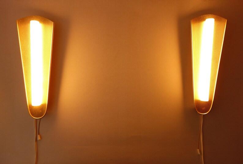Hollywood regency coppia di appliques di camera da letto luci etsy