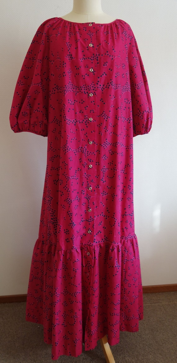 Vintage Marimekko 1963 oversized XL XXL dress cott