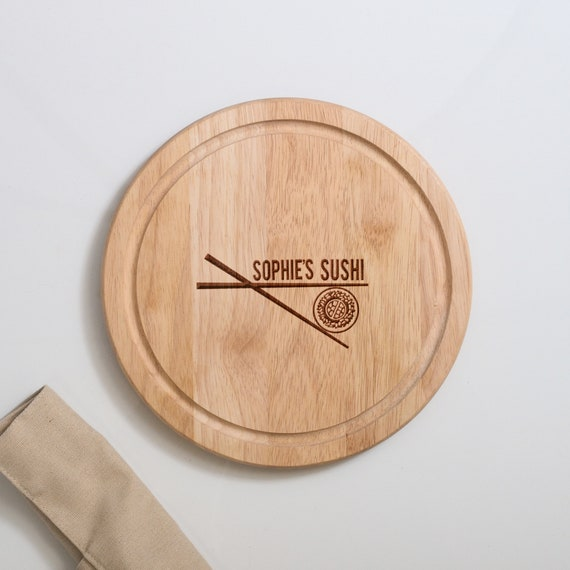Personalised Sushi Serving Board Sushi Set Chopping Board Serving Platter Display Food Personalised Cutting Board Gifts For Home Japanese