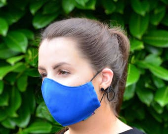 MASKERAID® Royal Blue Reusable Cotton Canvas Face Mask