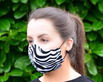 MASKERAID® Zebra Print Reusable Cotton Face Mask