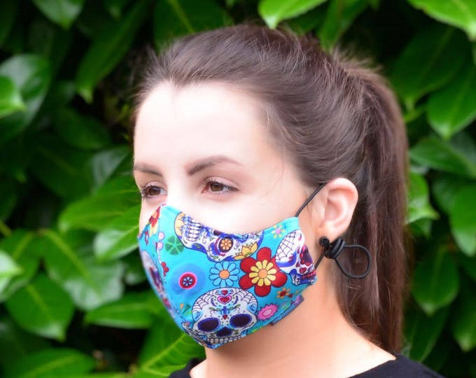 MASKERAID® Candy Skulls Reusable Cotton Face Mask