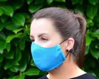 MASKERAID® Turquoise Blue Reusable Cotton Canvas Face Mask