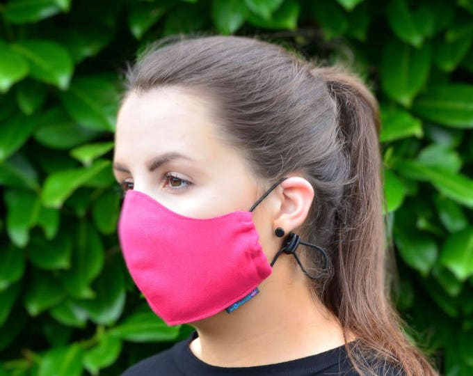 MASKERAID® Lipstick Pink Reusable Cotton Canvas Face Mask