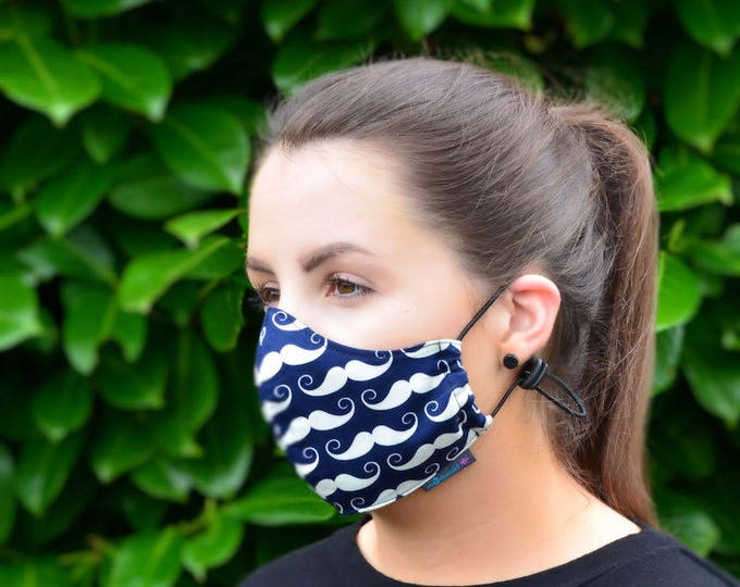 MASKERAID® Moustache Reusable Cotton Face Mask