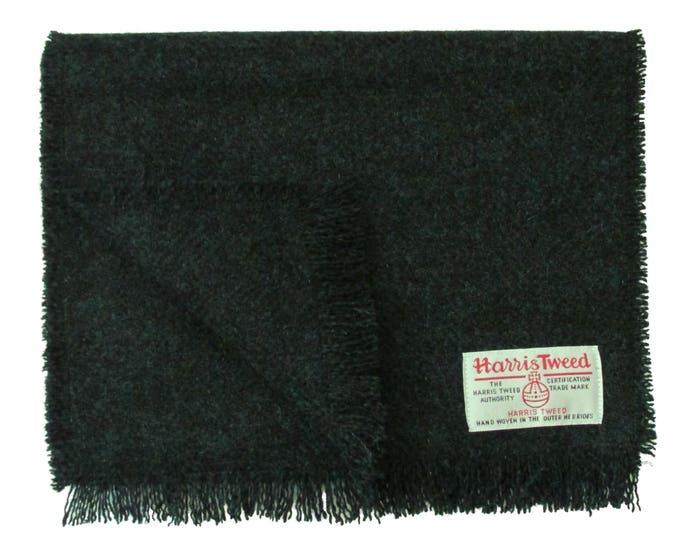 Harris Tweed Diesel Green Luxury Pure Wool Neck Scarf