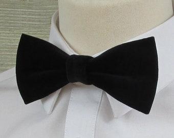 Black Velvet Classic Luxury Bow Tie