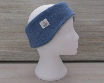Harris Tweed Denim Blue Luxury Ear Warmer Headband