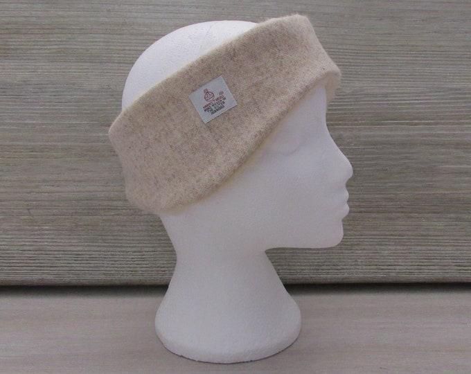 Harris Tweed Oatmeal Luxury Ear Warmer Headband