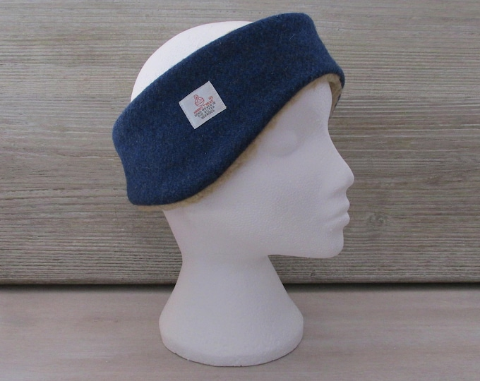 Harris Tweed Windsor Blue Luxury Ear Warmer Headband