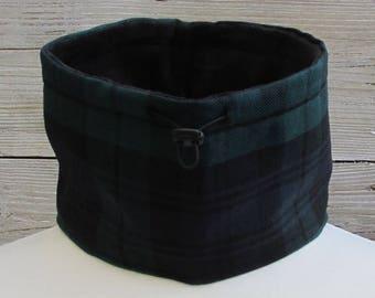 Pure Wool Black Watch Tartan Plaid Neck Warmer