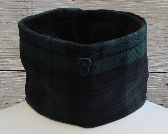 Pure Wool Black Watch Tartan Plaid Neck Warmer