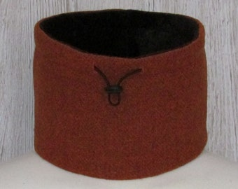 Harris Tweed Burnt Orange Luxury Pure Wool Neck Warmer