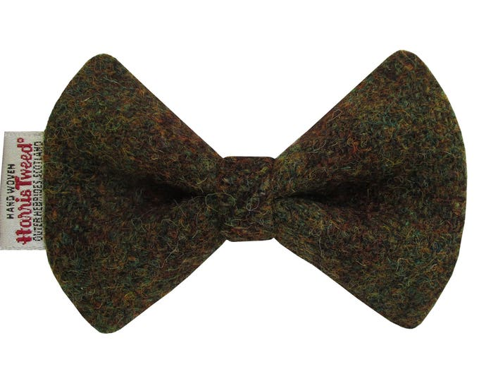 Harris Tweed Crofters Check Designer Dog Bow Tie