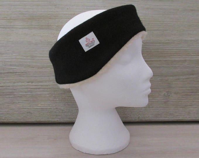 Harris Tweed Jet Black Luxury Ear Warmer Headband