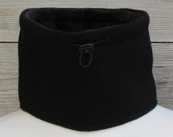 Harris Tweed Jet Black Luxury Pure Wool Neck Warmer