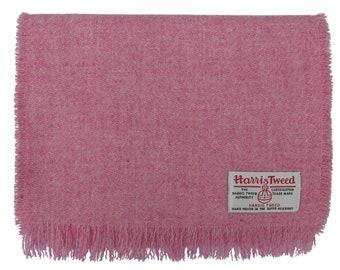 Harris Tweed Pink Blush Luxury Pure Wool Neck Scarf