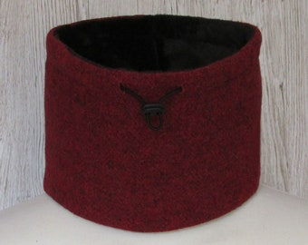 Harris Tweed Wine Red Luxury Pure Wool Neck Warmer