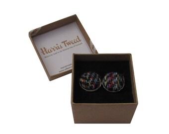 Harris Tweed Multi Weave Handmade Boxed Cufflinks