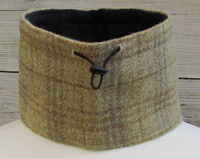 Harris Tweed Oatmeal & Ochre Tartan Luxury Pure Wool Neck Warmer
