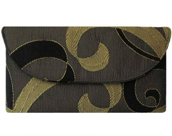 Black & Gold Swirl Clutch Bag