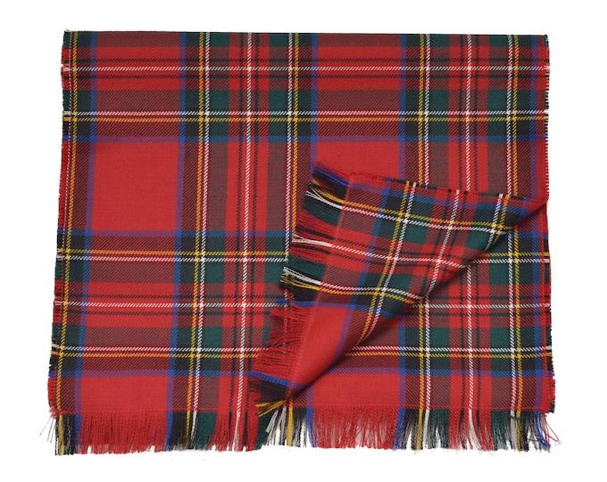 Royal Stewart Tartan 100% Wool Fringed Scarf