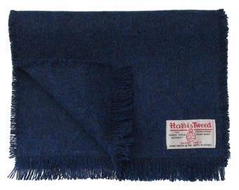 Harris Tweed Windsor Blue Pure Wool Neck Scarf