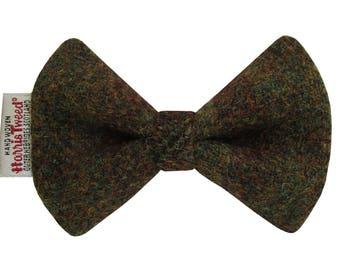 Harris Tweed Crofters Check Designer Dog Bow Tie
