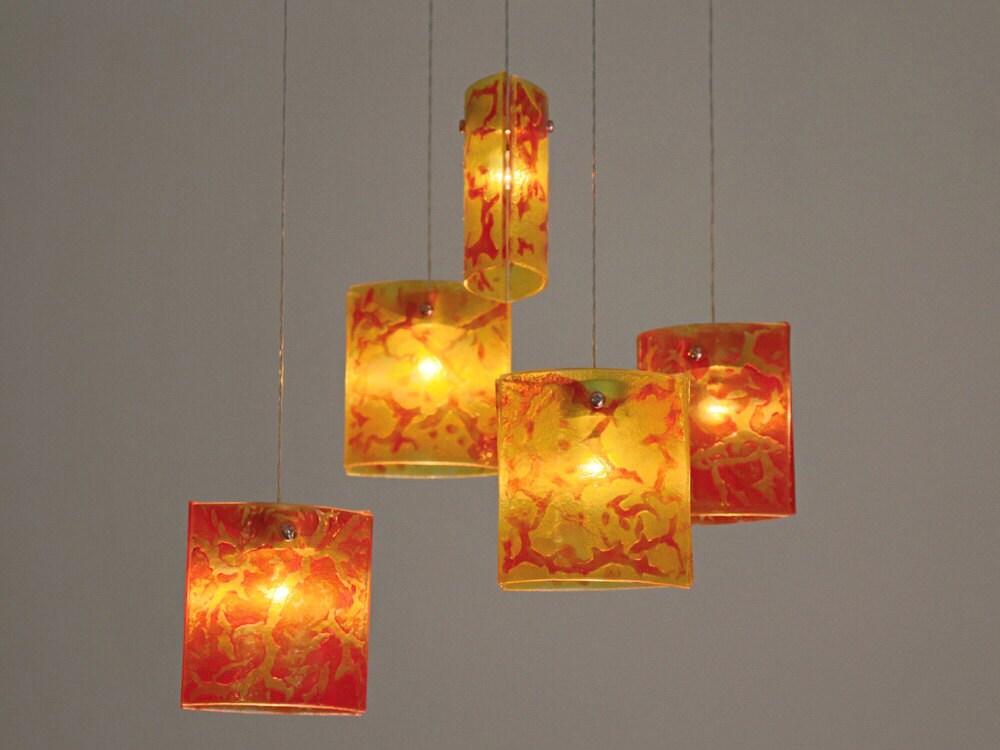 Lighting pendants glass Industrial Pendant Shades Of Light Fused Glass Pendant Lights Chandelier Lighting Hanging Etsy