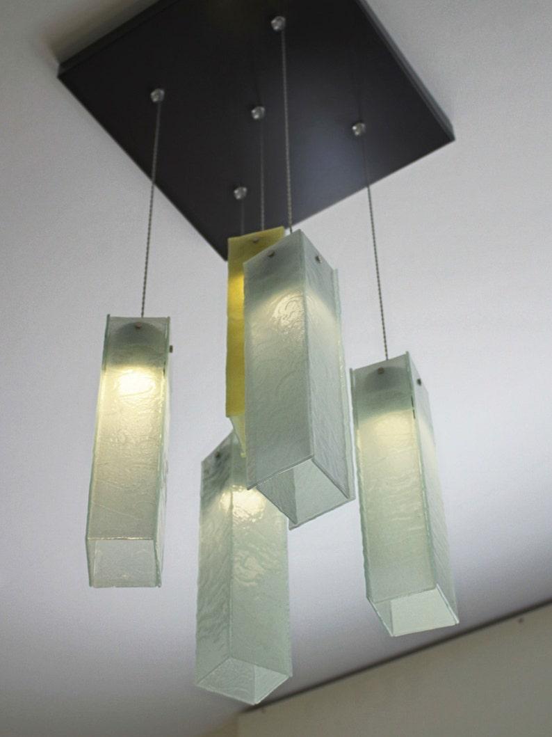 Fused glass pendant lights foyer lights staircase lights ceiling lights pendant lighting ceiling lighting large size