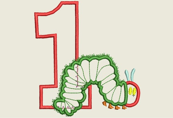 Hungry Caterpillar Embroidery Design Caterpillar Applique Etsy