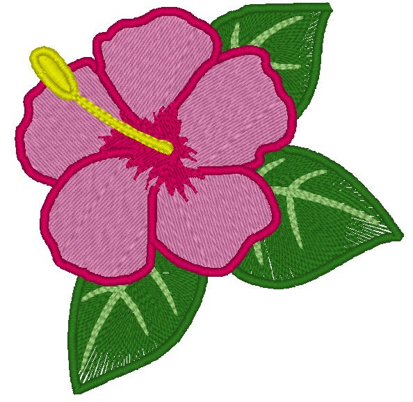 Hawaiian Flower Embroidery Design Hibiscus Embroidery Design Etsy