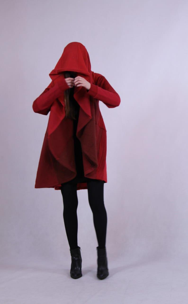bdb466156 Oversized Upcycled Coat Wool Hooded Spring Coolawoola Coat