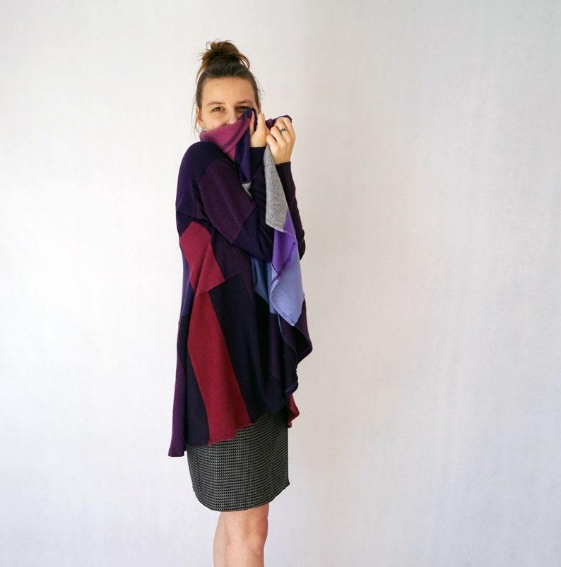 Magenta Pure Cashmere Upcycled Coat Sustainable Sweater Coolawoola