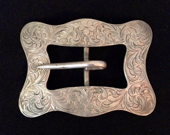 Engraved Victorian Sterling Buckle