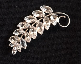 Sterling Leaf Brooch / Pin