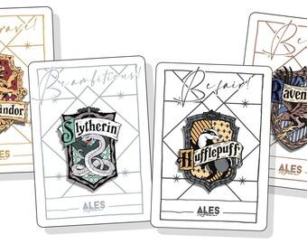 "Pin ""Hogwarts"" (Gryffindor, Slytherin, Ravenclaw, Hufflepuff)"