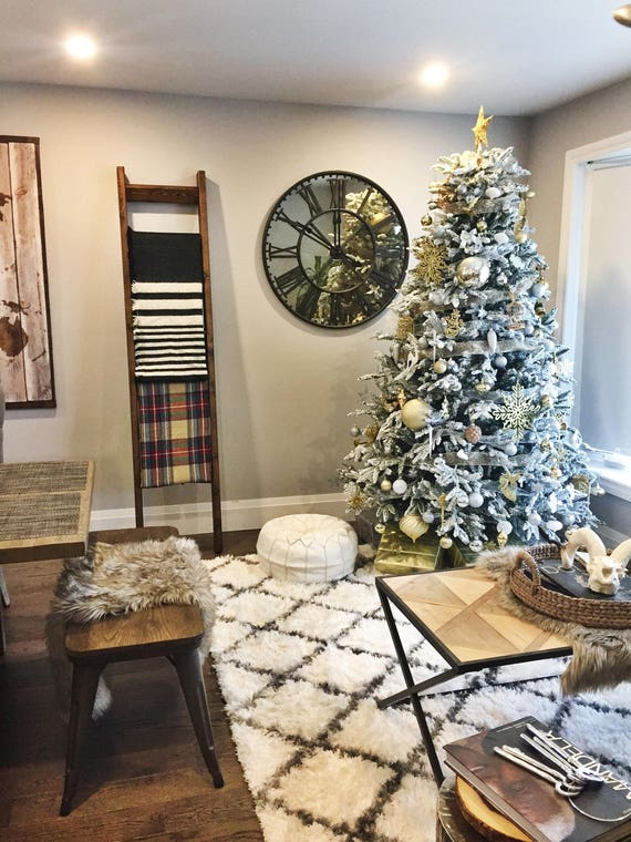 bestseller rustic wood blanket ladder rustic ladder decor rustic christmas gift chic decor nursery decor housewarming gift