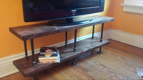 Charmant Industrial TV Stand Media Console Bookshelf Rustic TV | Etsy