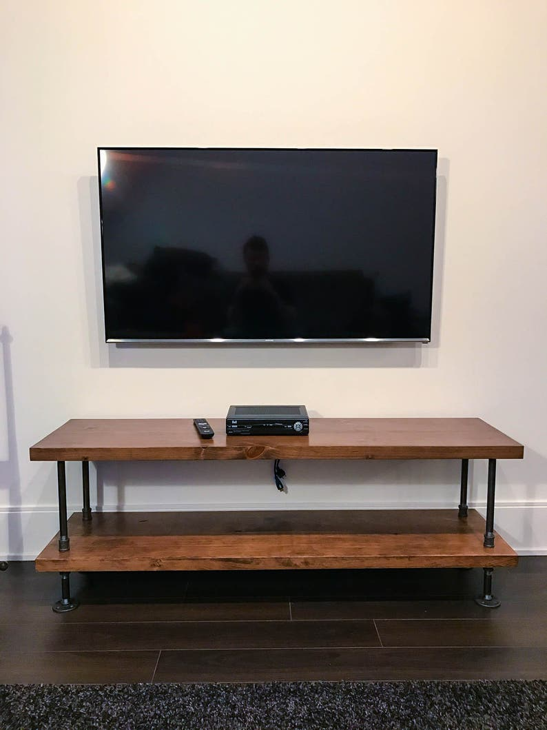 Rustic Industrial Tv Stand Rustic Industrial Coffee Table Etsy