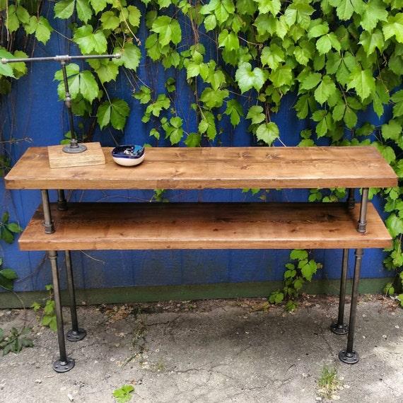 Industrielle en acier et bois Meuble TV table console en   Etsy e90974108253