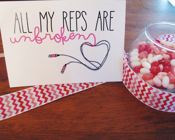 Fitness valentines day greeting card unbroken reps etsy fitness valentines day greeting card unbroken reps m4hsunfo