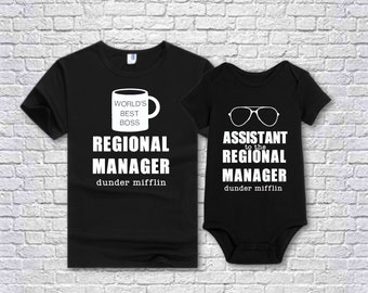 cbf4690fb4a3f The Office inspired Regional Manager + Assistant to the Regional Manager  Shirt Set